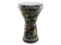 "Дарбука (Gawharet El Fan Darbuka) - The Black Sphinx 17"" Mother of Pearl Darbuka"